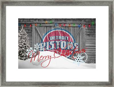 Detroit Pistons Framed Print by Joe Hamilton