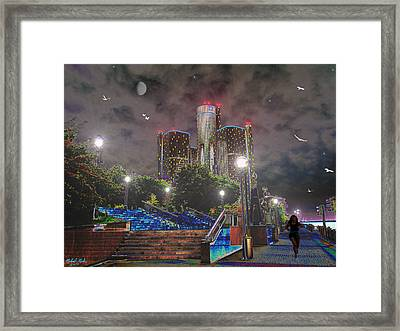 Detroit Riverwalk Framed Print by Michael Rucker