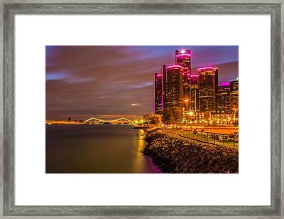 Detroit Riverwalk Framed Print