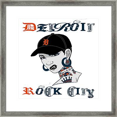 Detroit Rock City  Framed Print by Respect the Queen