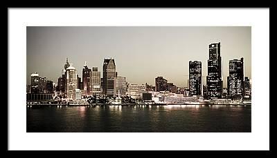 Detroit River Framed Prints