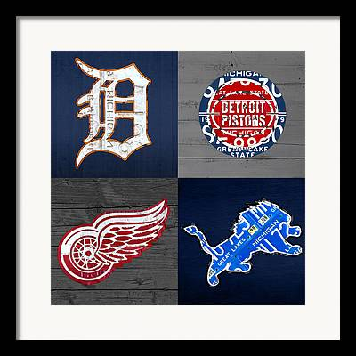 Detroit Pistons Framed Prints