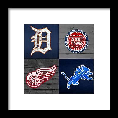 Detroit Tigers Art Framed Prints