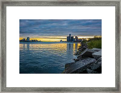 Detroit Sunset Framed Print