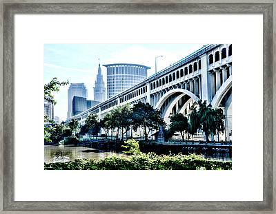 Detroit-superior Bridge - Cleveland Ohio - 1 Framed Print