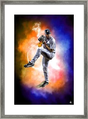 Detroit Tiger Justin Verlander Framed Print by A And N Art