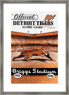 Detroit Tigers 1946 Scorecard Framed Print by Big 88 Artworks