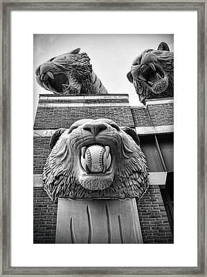 Detroit Tigers Comerica Park Tiger Statues Framed Print by Gordon Dean II