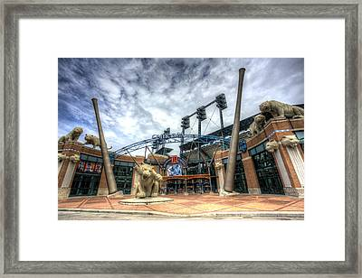 Framed Print featuring the photograph Detroit Tigers Stadium Entrance by Shawn Everhart