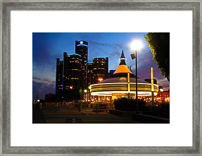 Detroit Waterfront Park Framed Print by Rexford L Powell