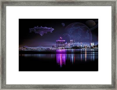Framed Print featuring the photograph Detroit Worlds by Nicholas  Grunas