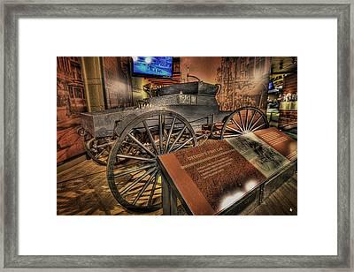 Detroits First Car Framed Print by Nicholas  Grunas