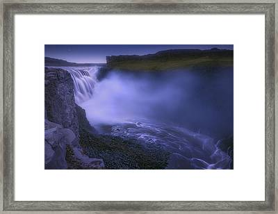 Dettifoss Waterfall Framed Print by Giovanni Allievi