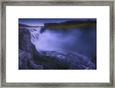 Dettifoss Waterfall Framed Print