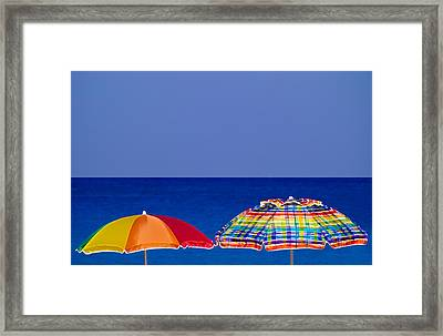 Deuce Umbrellas Framed Print