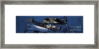 Deus Motorcycle Cut Framed Print by Pablo Franchi