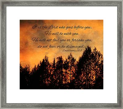 Deuteronomy The Lord Goes Before You Framed Print