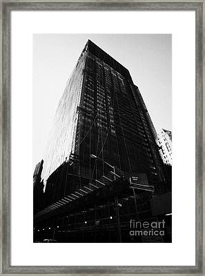 Deutsche Bank Building Due For Demolition Liberty Street Ground Zero Framed Print by Joe Fox