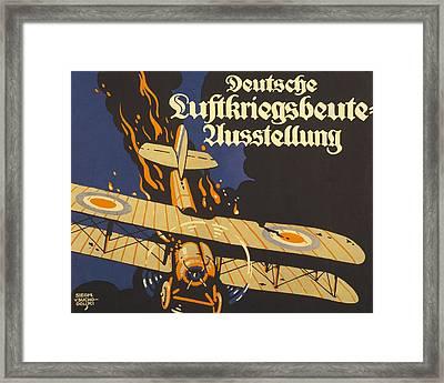Deutsche Luftkriegsbeute Ausstellung Framed Print by Siegmund von Suchodolski