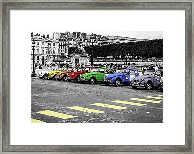 Deux Chevaux In Color Framed Print by Ross Henton