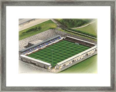 Deva Stadium - Chester City Framed Print by Kevin Fletcher
