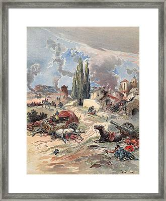 Devastation Of Provence, Illustration Framed Print by Albert Robida