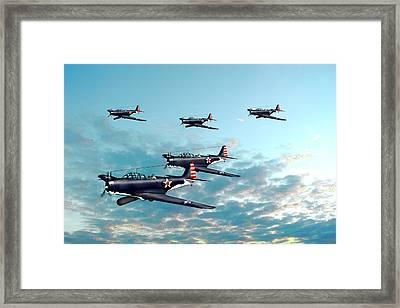 Devastators Dawn Patrol  Framed Print by Paul Hughes