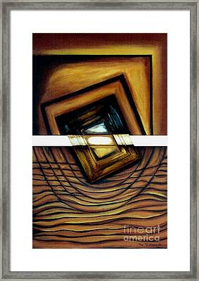 Framed Print featuring the painting Deversity View by Fei A