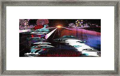 Ufo Landing Framed Print by Yul Olaivar