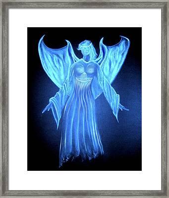 Devil An Angel Framed Print by William  Paul Marlette