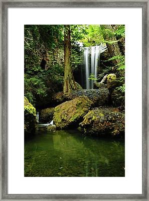 Devil Creek Falls  Framed Print by Jeff Swan