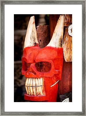 Devil In The Details Framed Print