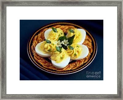 Deviled Eggs Framed Print by Iris Richardson