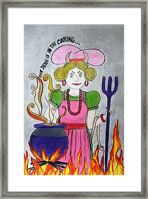 Devilish Cook Framed Print by Vinita C