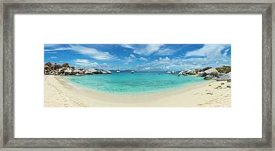 Devils Bay And Beach At The Baths Framed Print