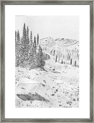 Devil's Castle Framed Print