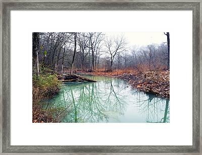 Devil's Den Still Water Framed Print