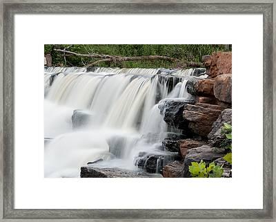 Devils Den Waterfall Framed Print by Dawn Romine