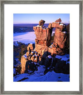 Devil's Doorway Framed Print by Ray Mathis