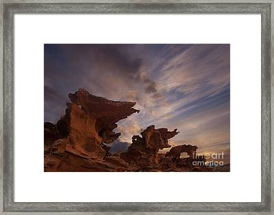 Devils Fire Framed Print by Keith Kapple