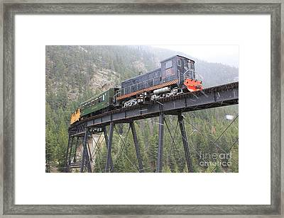 Devils Gate - Snow Framed Print