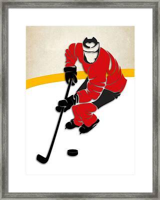 Devils Hockey Rink Framed Print