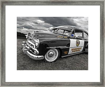 Devils Lake Highway Patrol - '51 Chevy Framed Print by Gill Billington