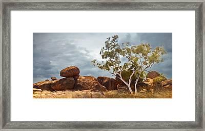 Devils Marbles Australia Framed Print by Dirk Ercken