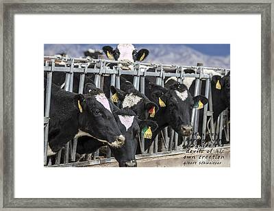 Devils Of His Own Creation Framed Print
