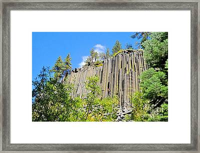 Framed Print featuring the photograph Devils Postpile by Marilyn Diaz