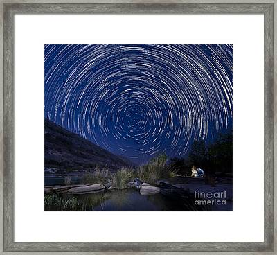 Devils River Star Trails Framed Print