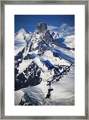 Devil's Thumb From The Air Framed Print by Cynthia Lagoudakis