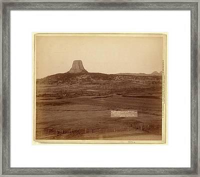 Devils Tower And Mo. Buttes. Ryans Ranch In Foreground Framed Print by Litz Collection