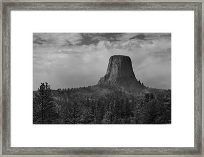 Devil's Tower Burns Framed Print